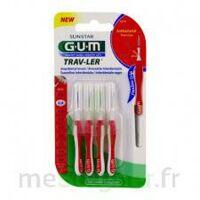 GUM TRAV - LER, 0,8 mm, manche rouge , blister 4 à LA COTE-SAINT-ANDRÉ