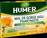 Humer Pharyngite Pastille mal de gorge Miel citron B/20 à LA COTE-SAINT-ANDRÉ